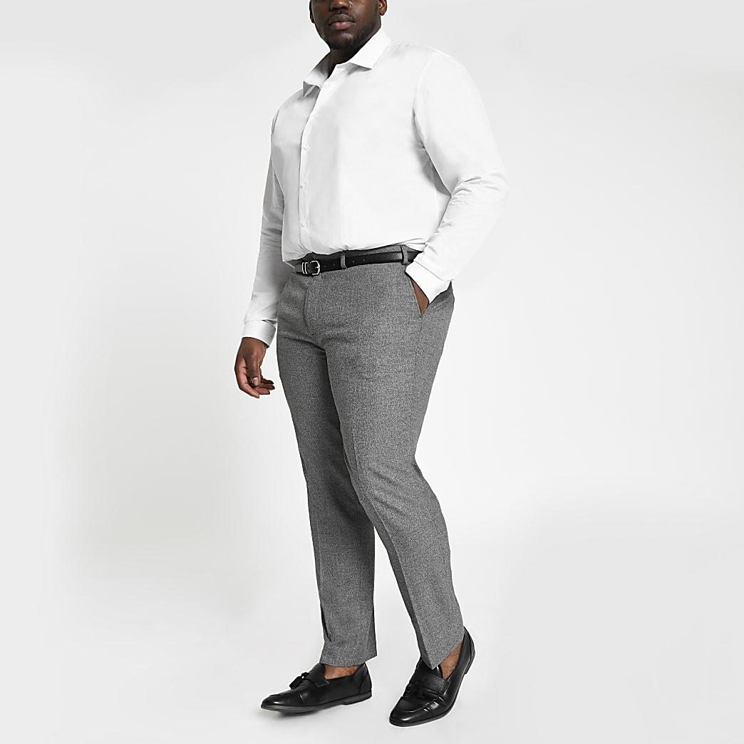 Big and Tall - Grijze nette broek