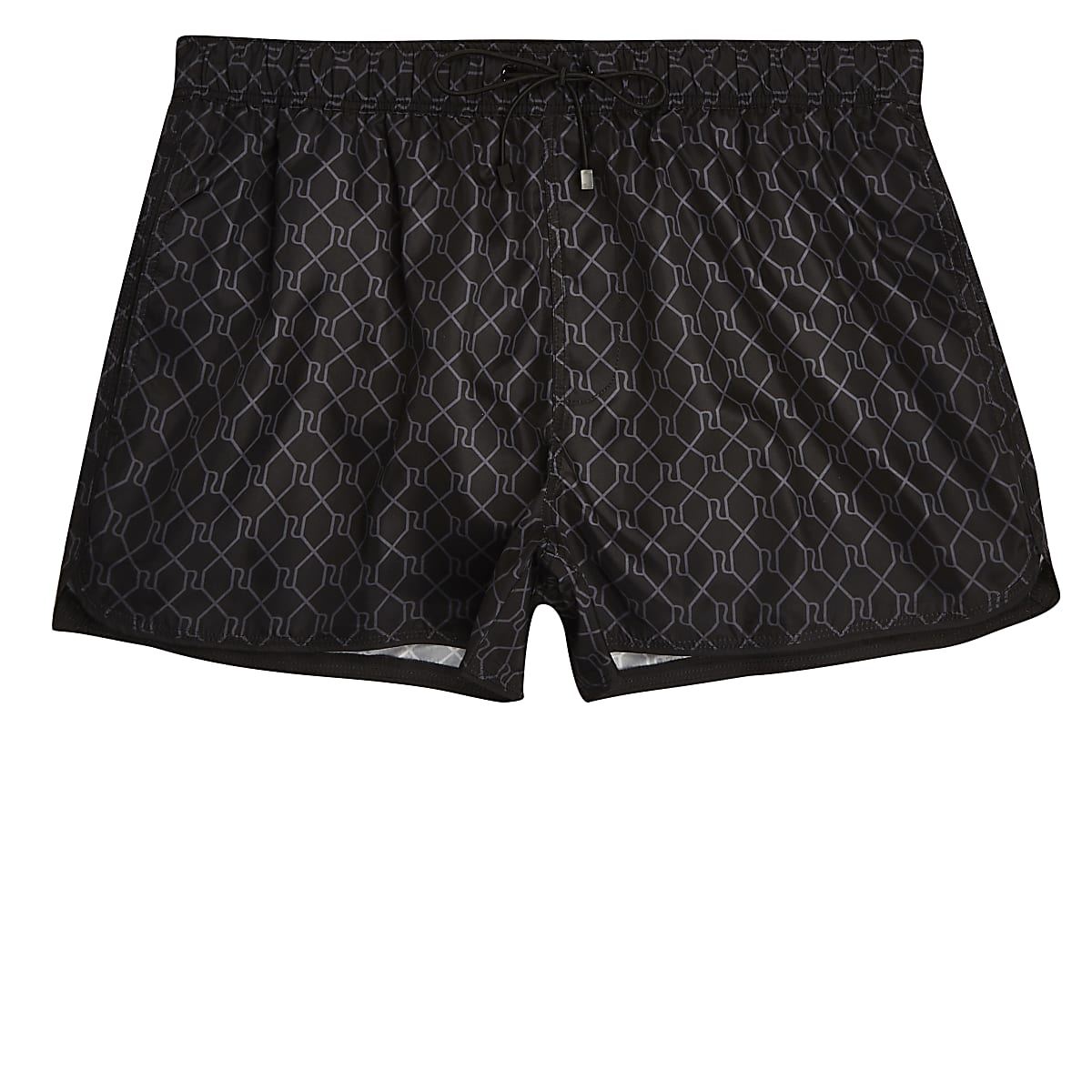 704efa0f285a Black RI monogram print swim shorts