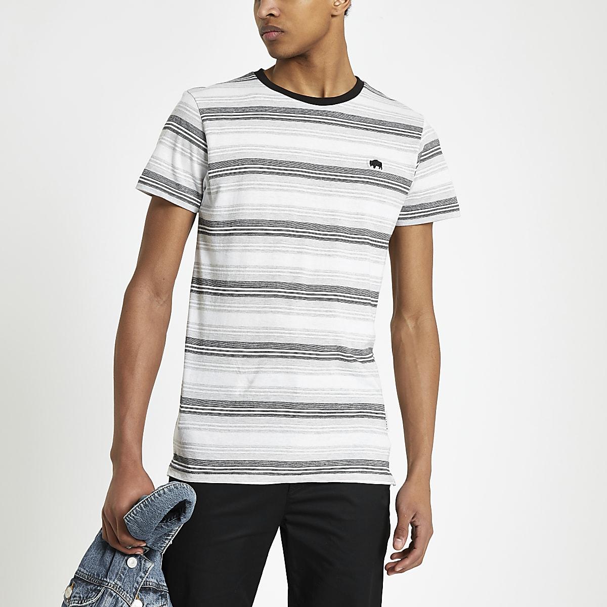 Bellfied grey stripe T-shirt
