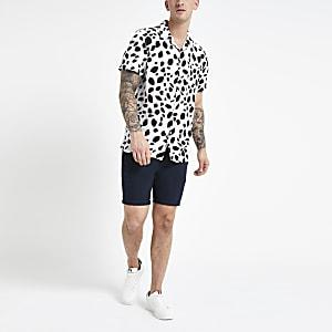 Bellfield white animal print shirt