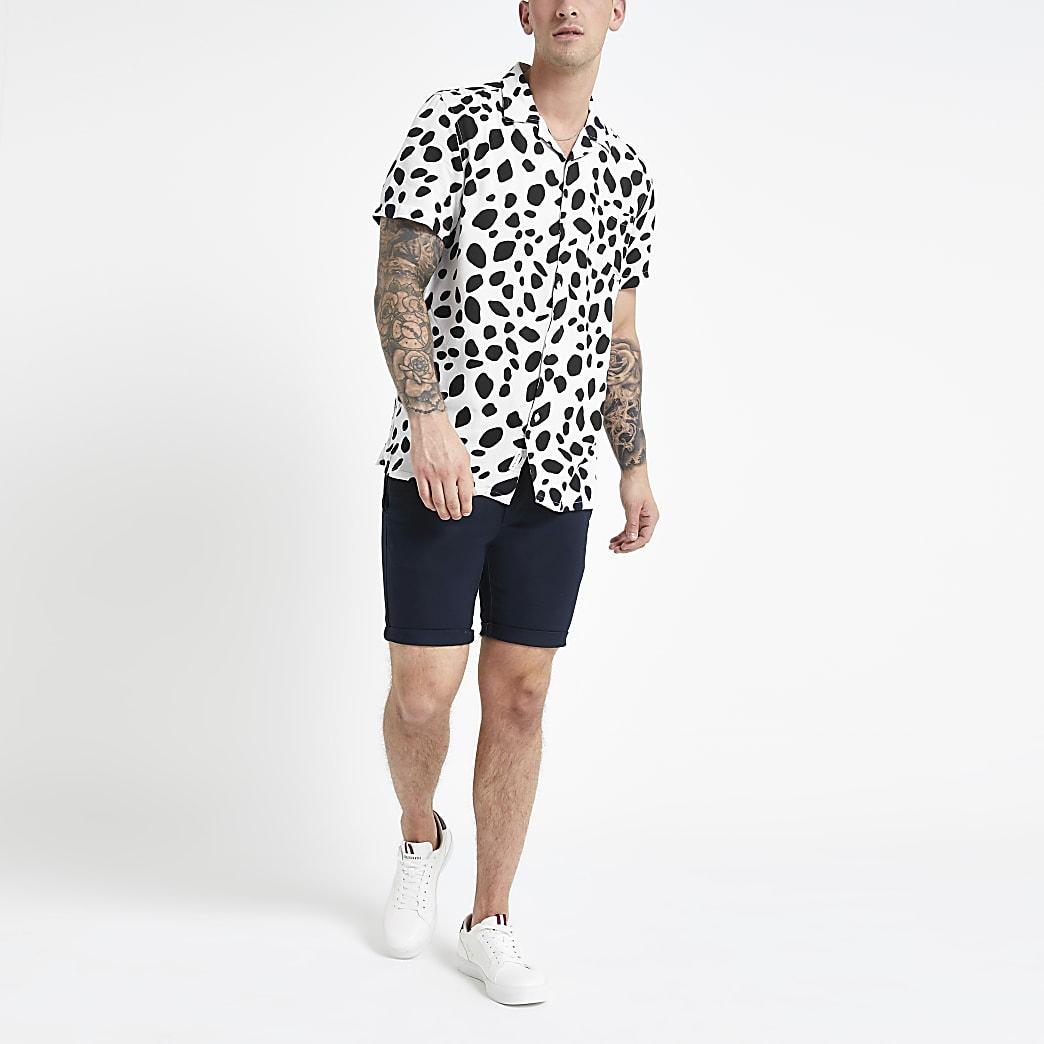 Bellfield - Wit overhemd met dierenprint