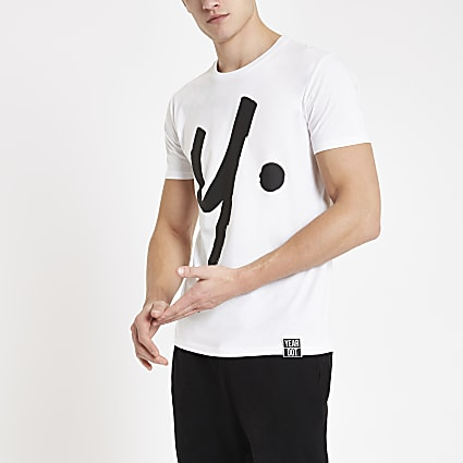 Year Dot white logo T-shirt