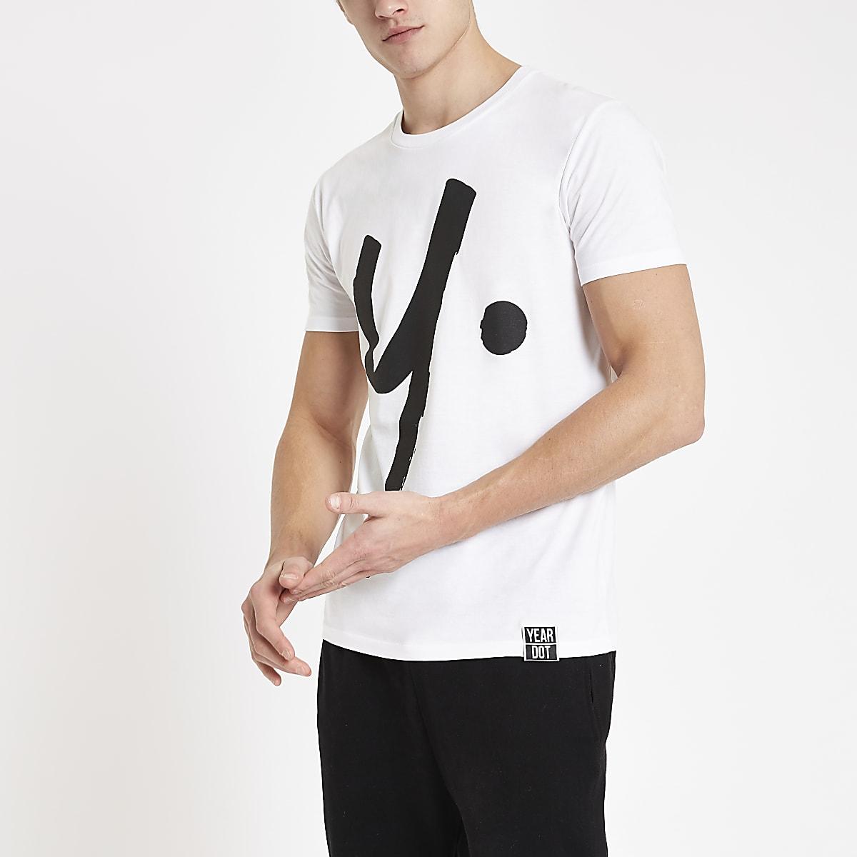 Year Dot white logo T-shirt