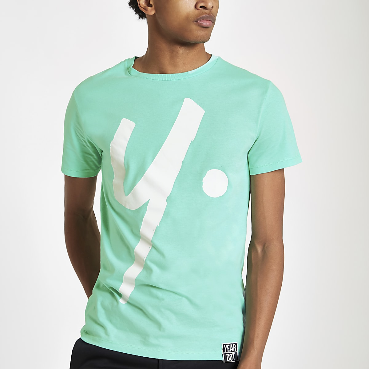 Year Dot mint green logo T-shirt