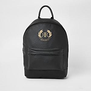 Black RI crest embroidered backpack