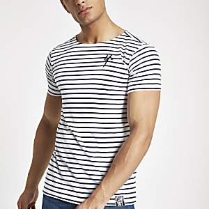 Year Dot white stripe T-shirt