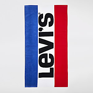 Levi's blue logo beach towel