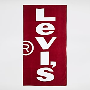 Levi's – Rotes Handtuch mit Logo