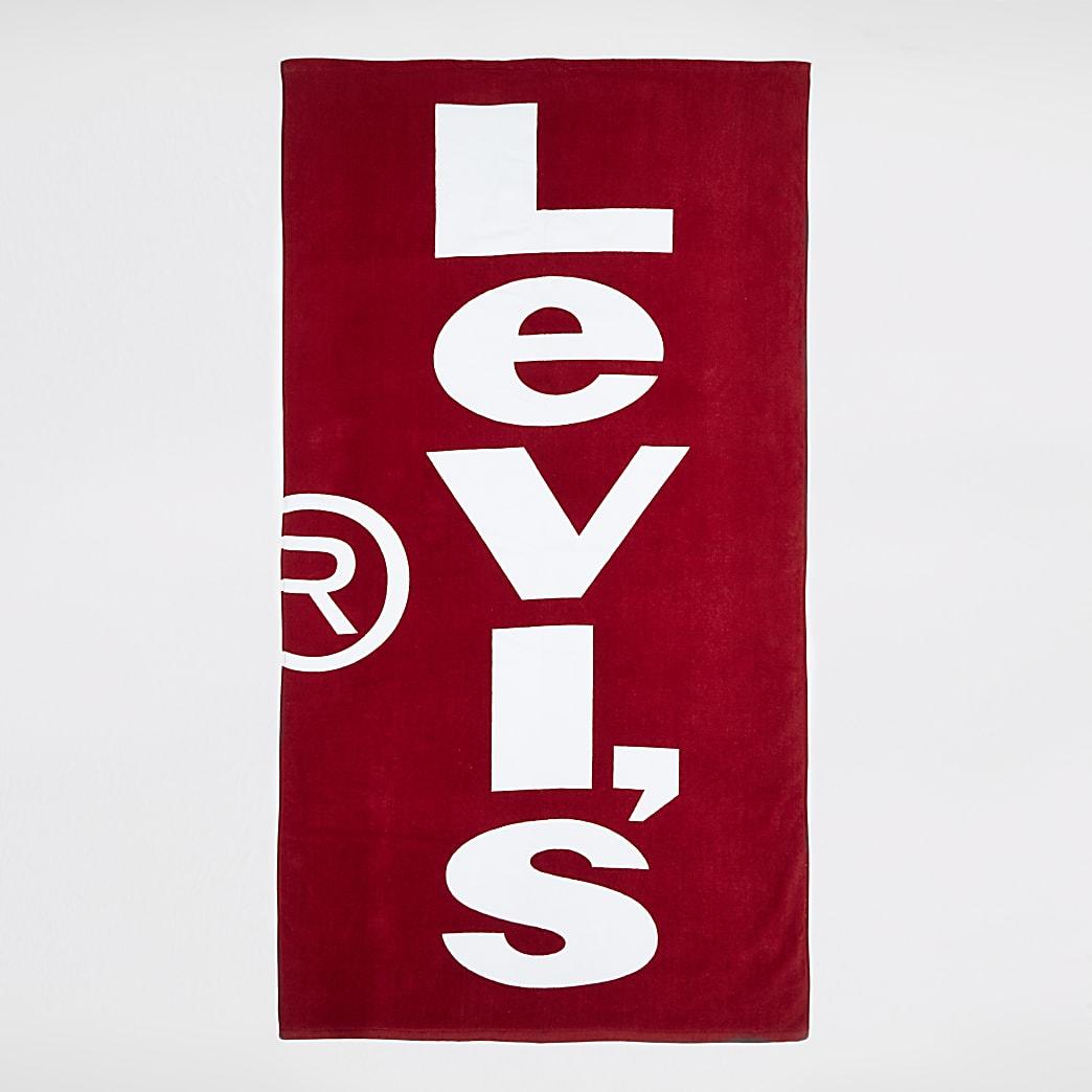 Levi's red logo towel