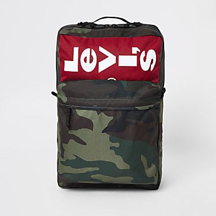 Levi's khaki camo backpack
