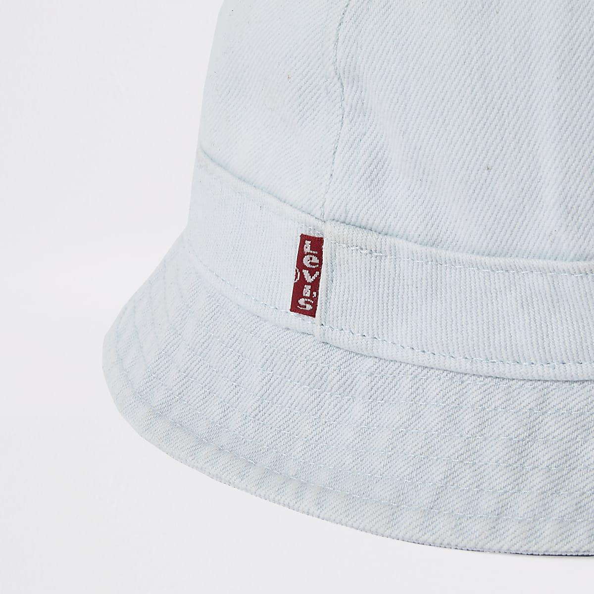 82739c2aaf35e Levi s light blue washed denim bucket hat - Hats   Caps ...