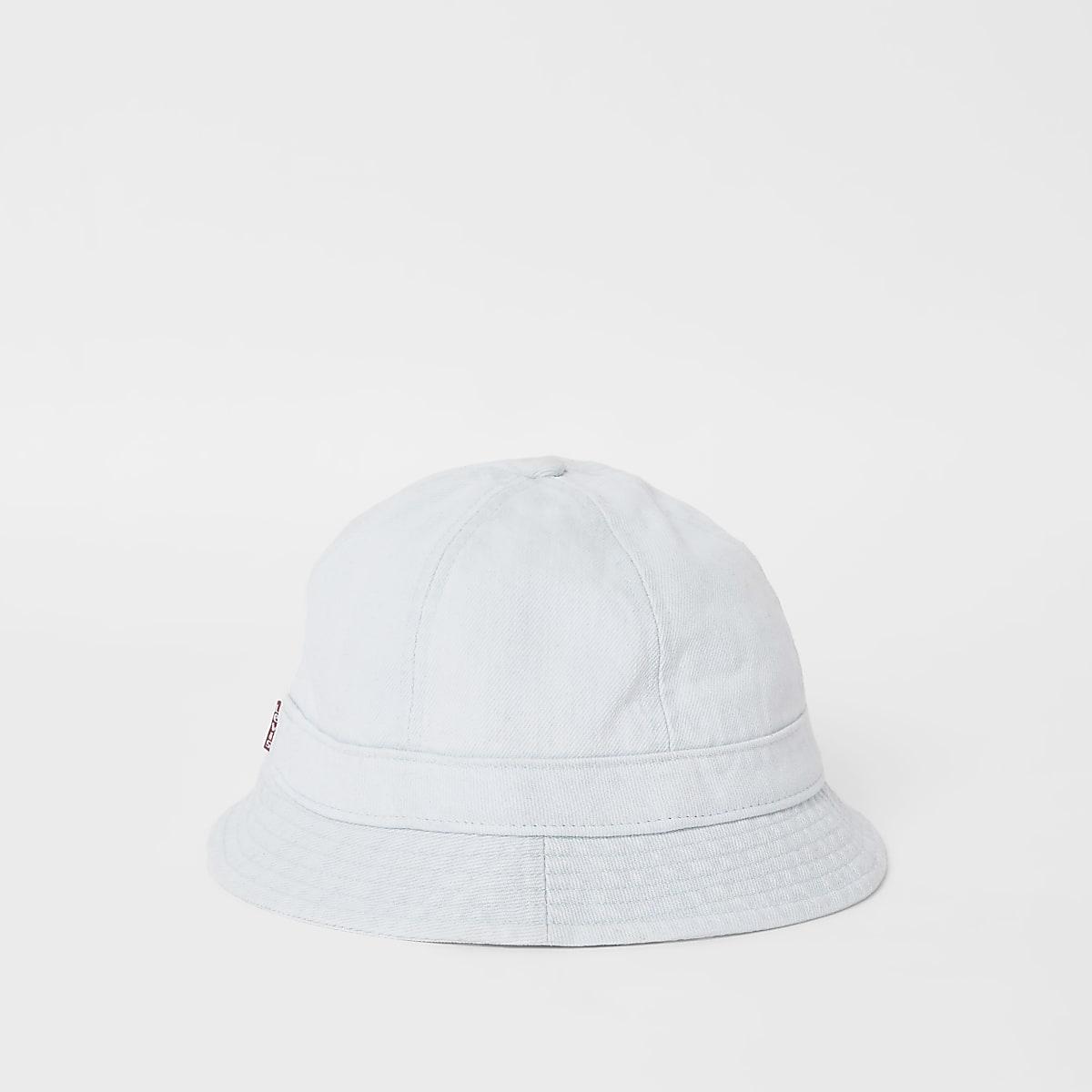 Levi's light blue washed denim bucket hat