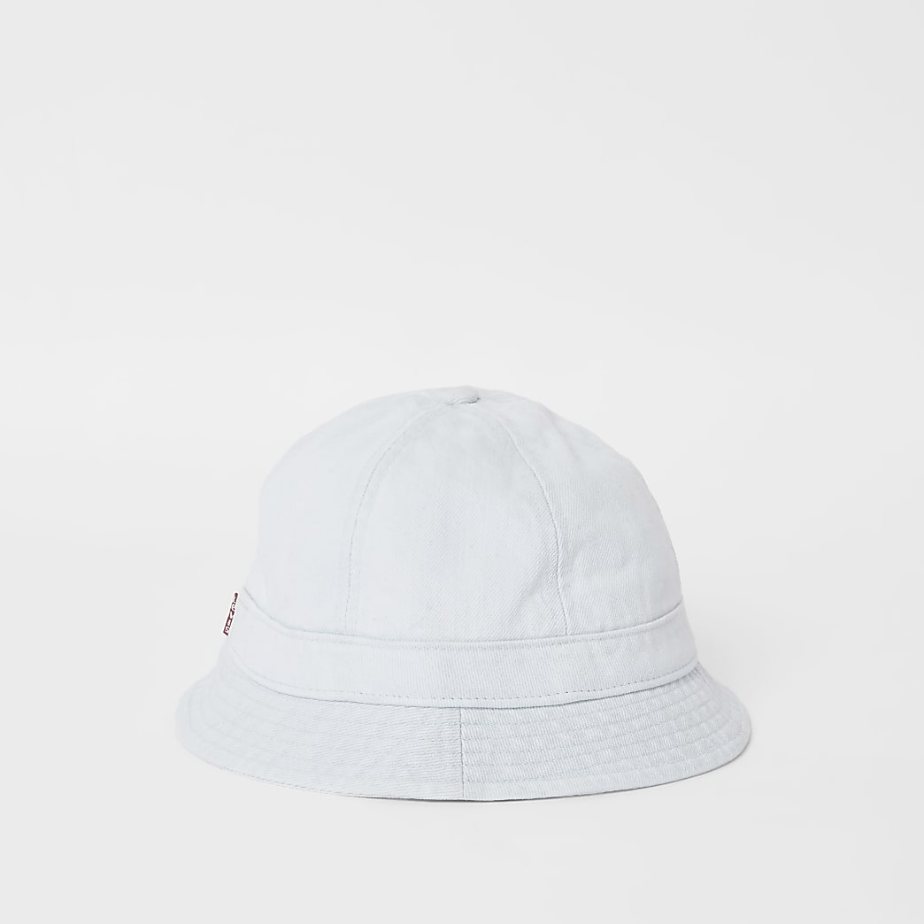 Levi's light blue washed denim bucket hat