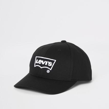 Levi's black batwing cap
