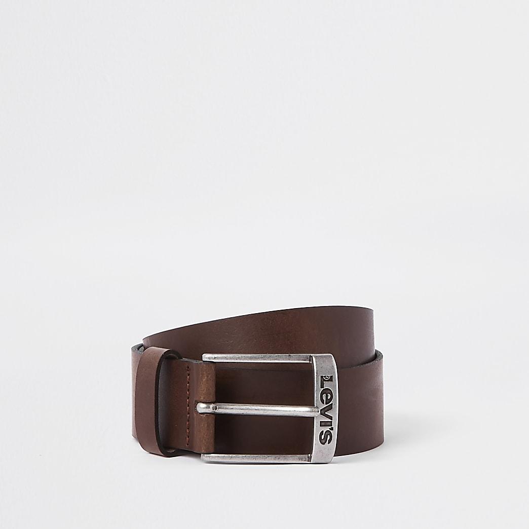 Levi's dark brown leather belt