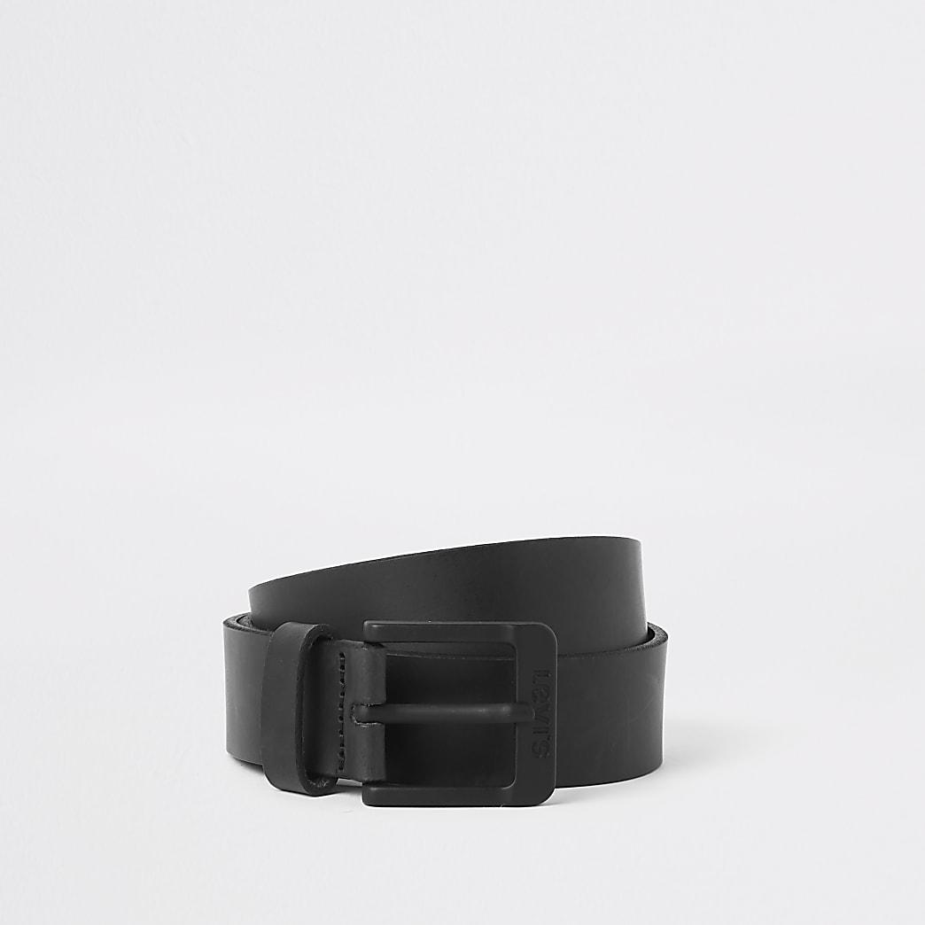 Levi's – Ceinture en cuir noire à boucle