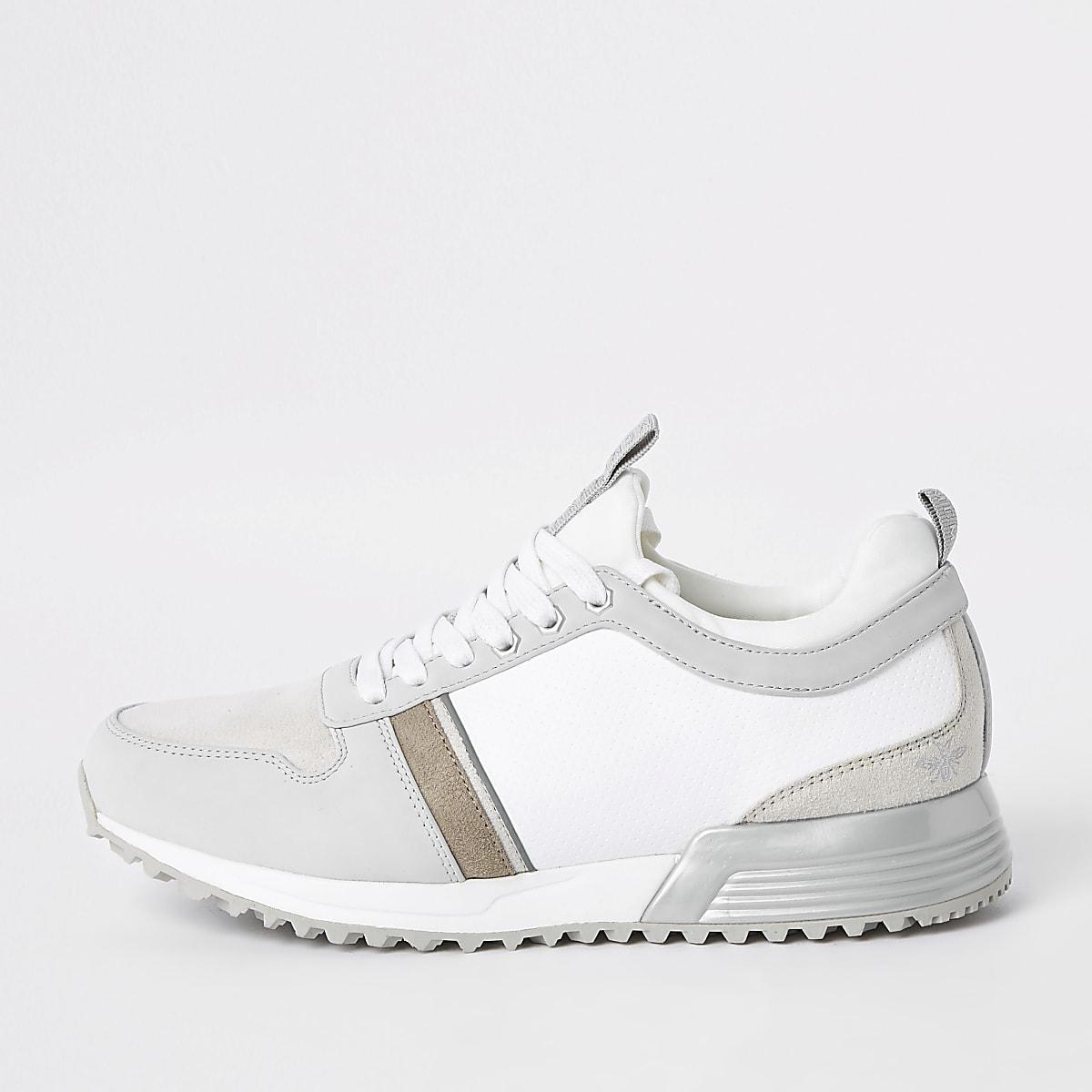 """Weiße Sneaker zum Schnüren """"MCMLXXVI"""""""