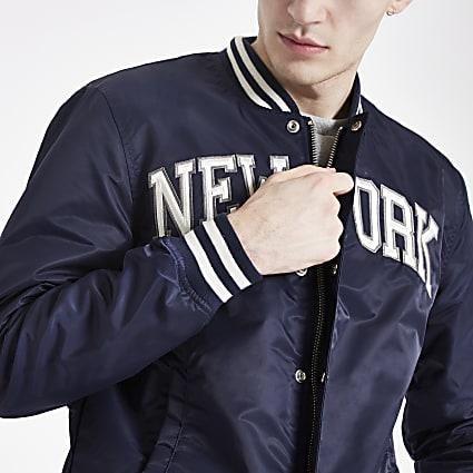 Schott blue 'New York' bomber jacket