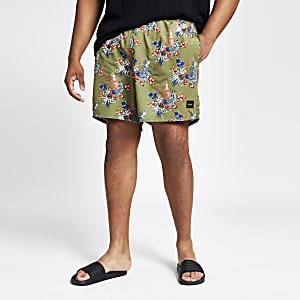 Only & Sons – Big and Tall – Short de bain à imprimé tropical