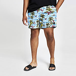 Only & Sons Big and Tall blue swim trunks