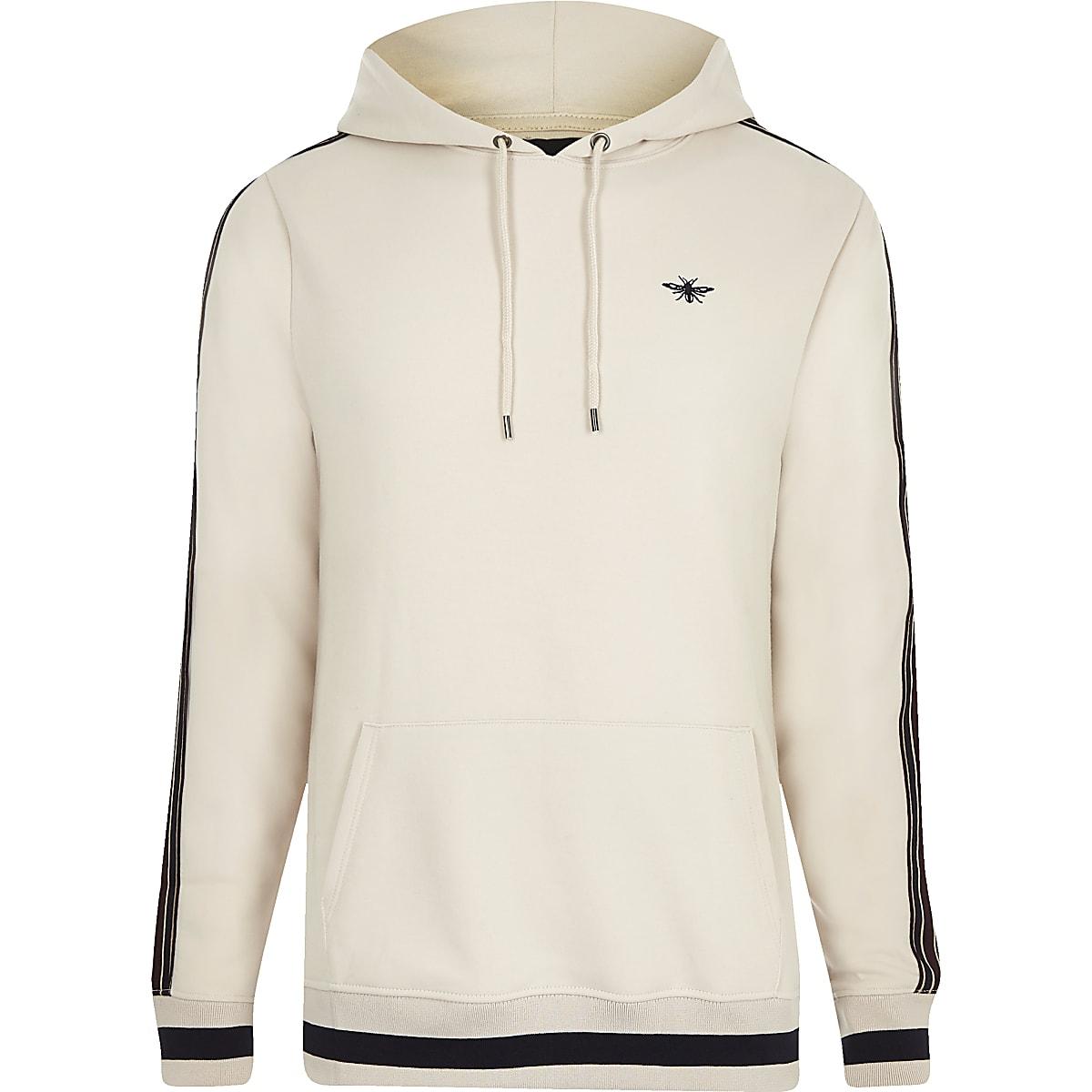 2a92488e Stone slim fit tape sleeve hoodie - Hoodies - Hoodies & Sweatshirts - men