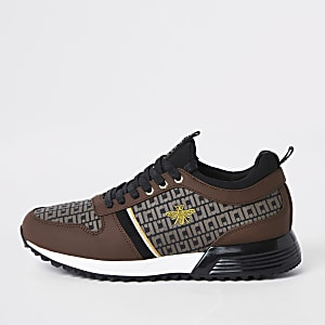 """Braune Sneakers zum Schnüren """"MCMLXXVI"""""""