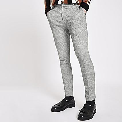 Grey super skinny smart trousers