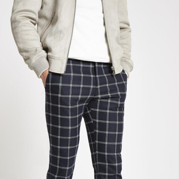 River Island - pantalon habillé skinny à carreaux  - 4