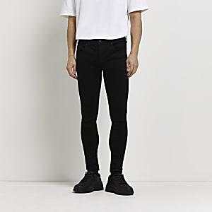 Ollie - Zwarte spray-on skinny jeans