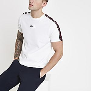 T-shirt «Prolific» blanc à bande