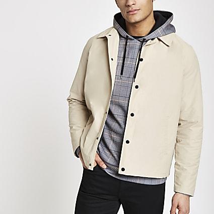 Stone long sleeve coach jacket