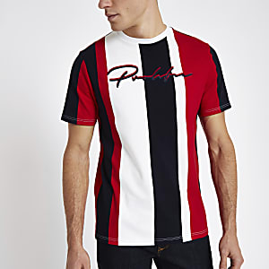 Red stripe 'Prolific' slim fit T-shirt
