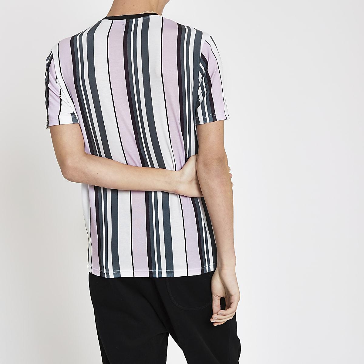 27fa8f38beea88 Pink stripe  Maison Riviera  slim fit T-shirt - T-shirts - T-Shirts ...