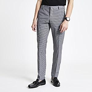 Selected Homme – Graue Slim Fit Anzughose