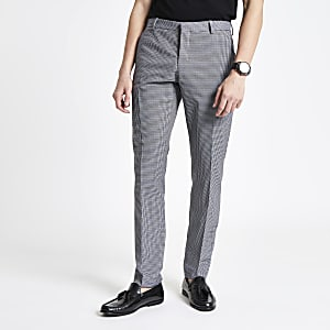 Selected Homme - Grijze slim-fit pantalon