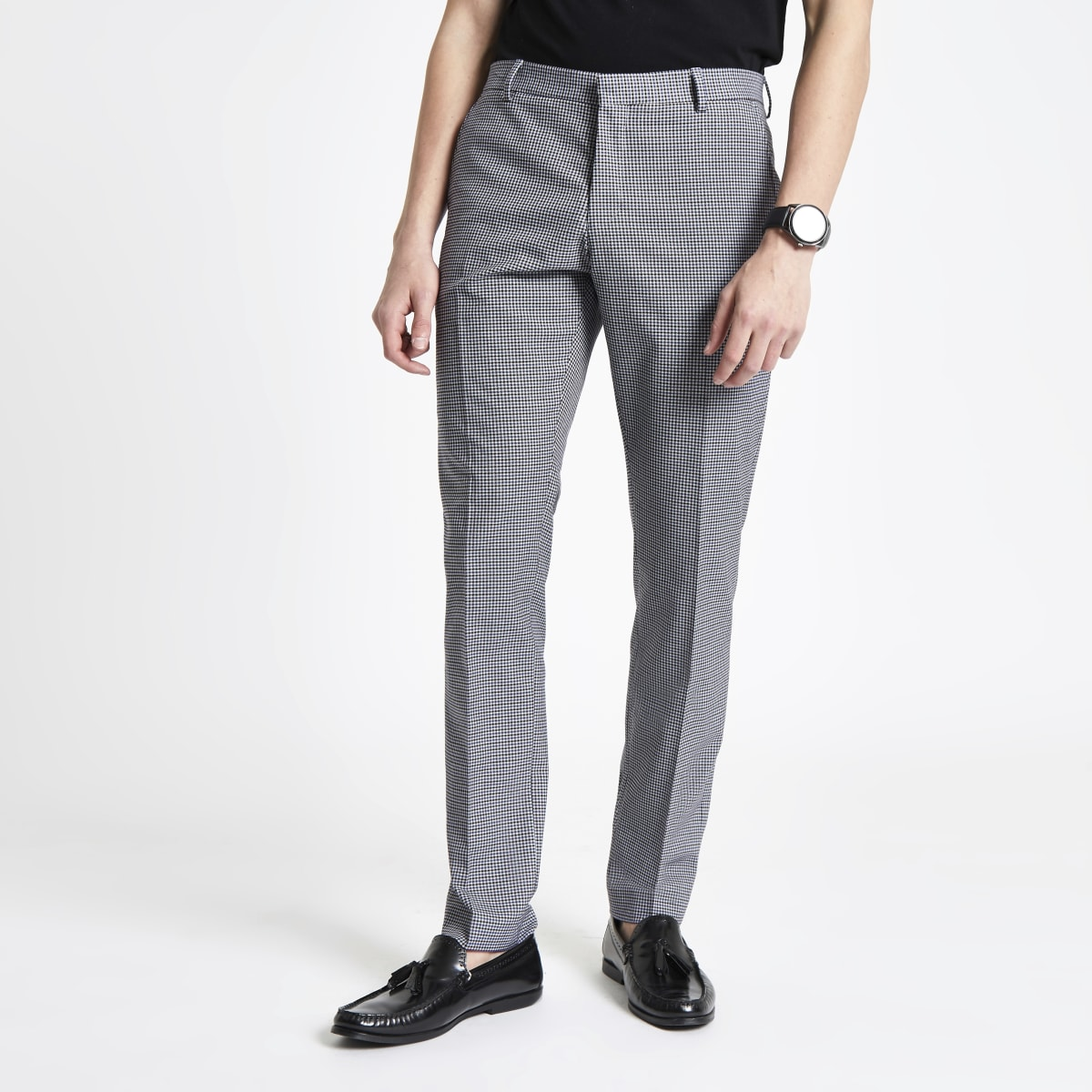Selected Homme grey slim fit suit pants