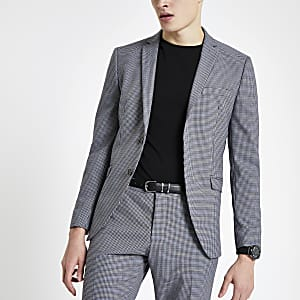 Selected Homme grey slim fit suit jacket