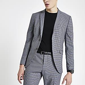 Selected Homme – Graue Slim Fit Anzugjacke
