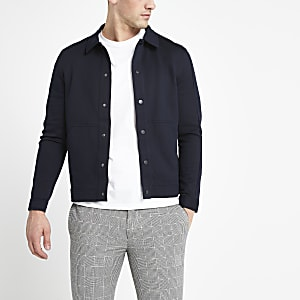 Selected Homme navy sweatshirt jacket