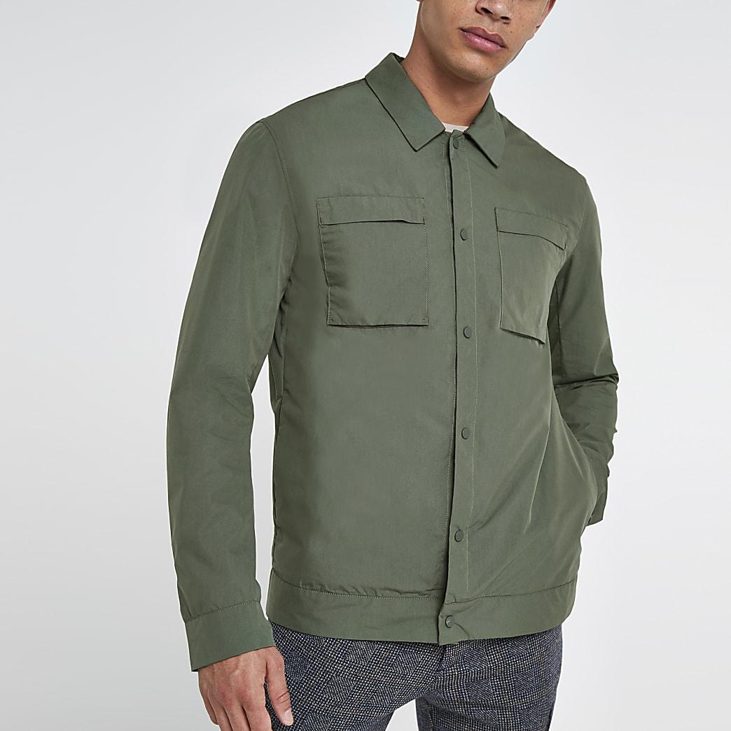 Selected Homme khaki shacket