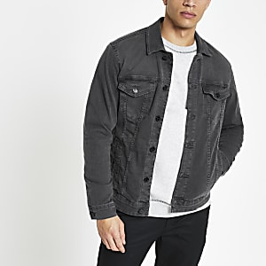 Only & Sons – Veste en denim gris délavé