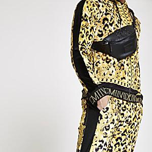 Jaded London – Veste de survêtement imprimé léopard jaune
