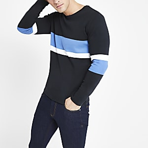 Selected Homme black long sleeve T-shirt