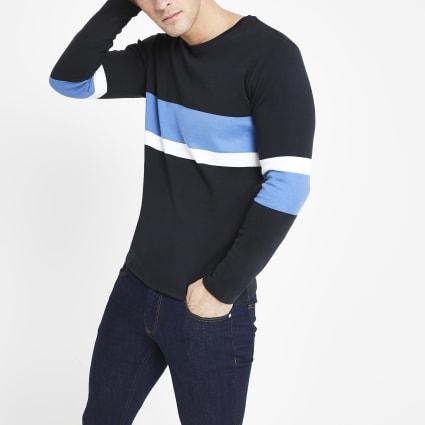 Selected Homme black long sleeve T-shirt