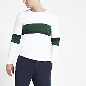 Selected Homme – T-shirt blanc à manches longues
