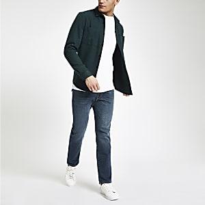 Selected Homme – Leon – Blaue Slim Fit Jeans