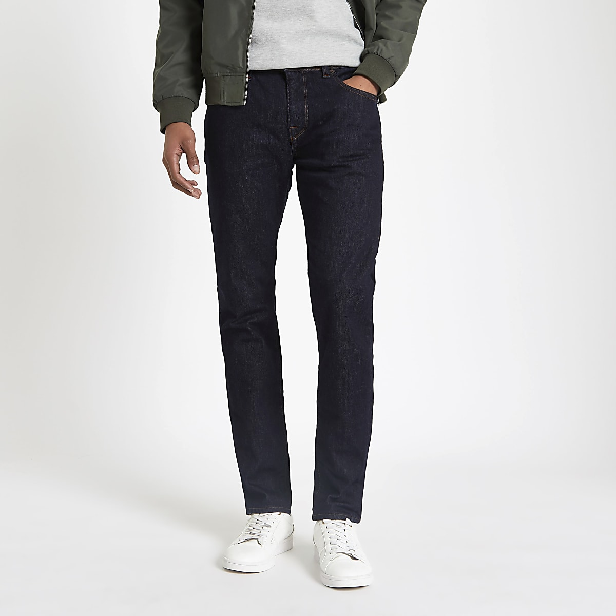 Selected Homme blue Leon slim fit jeans