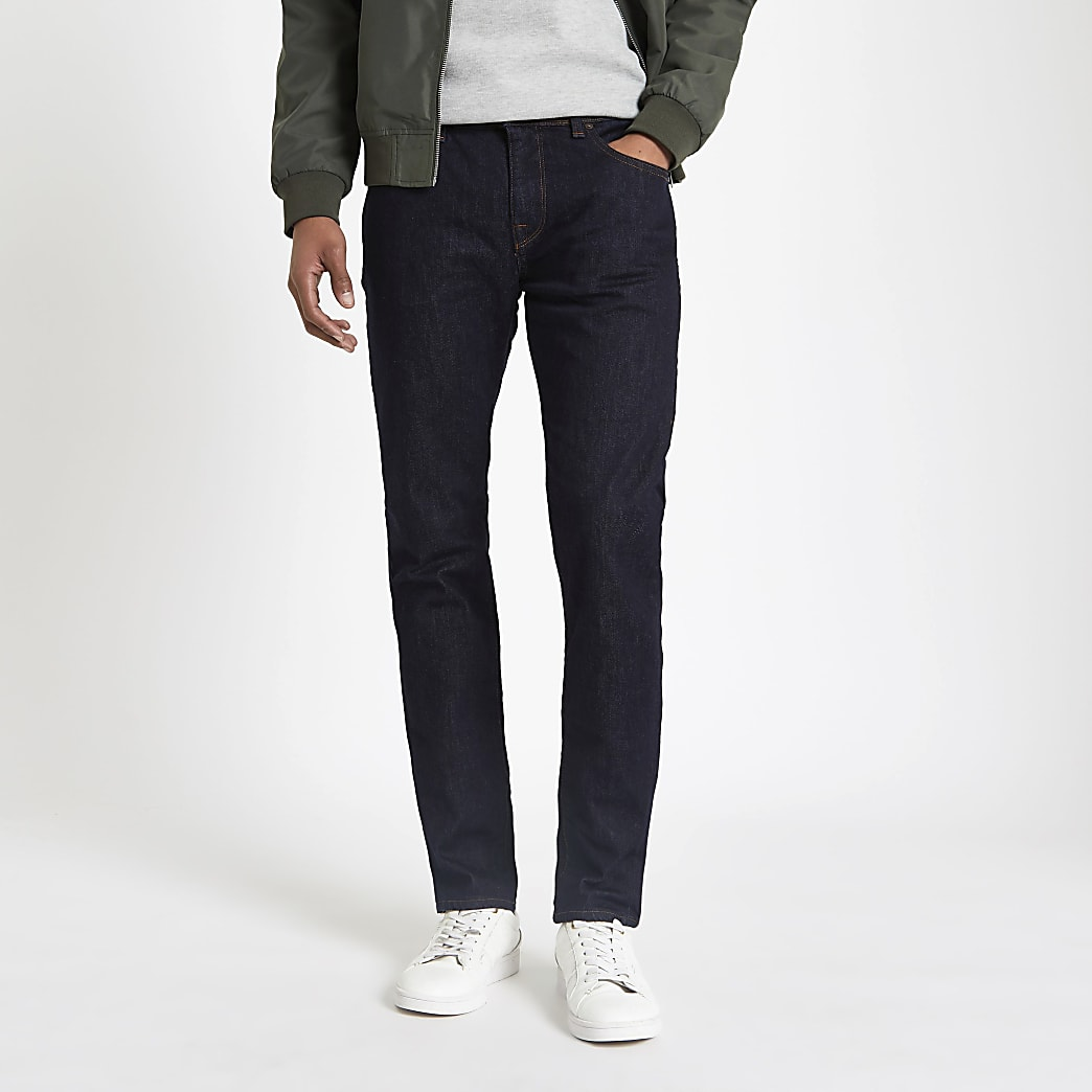 Selected Homme - Blauwe Leon slim-fit jeans