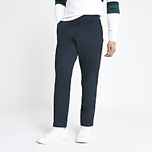 Selected Homme navy tapered pants