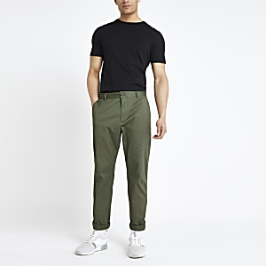 Selected Homme – Pantalon fuselé kaki